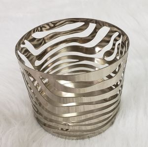 Bath and Body Works silver zebra holder